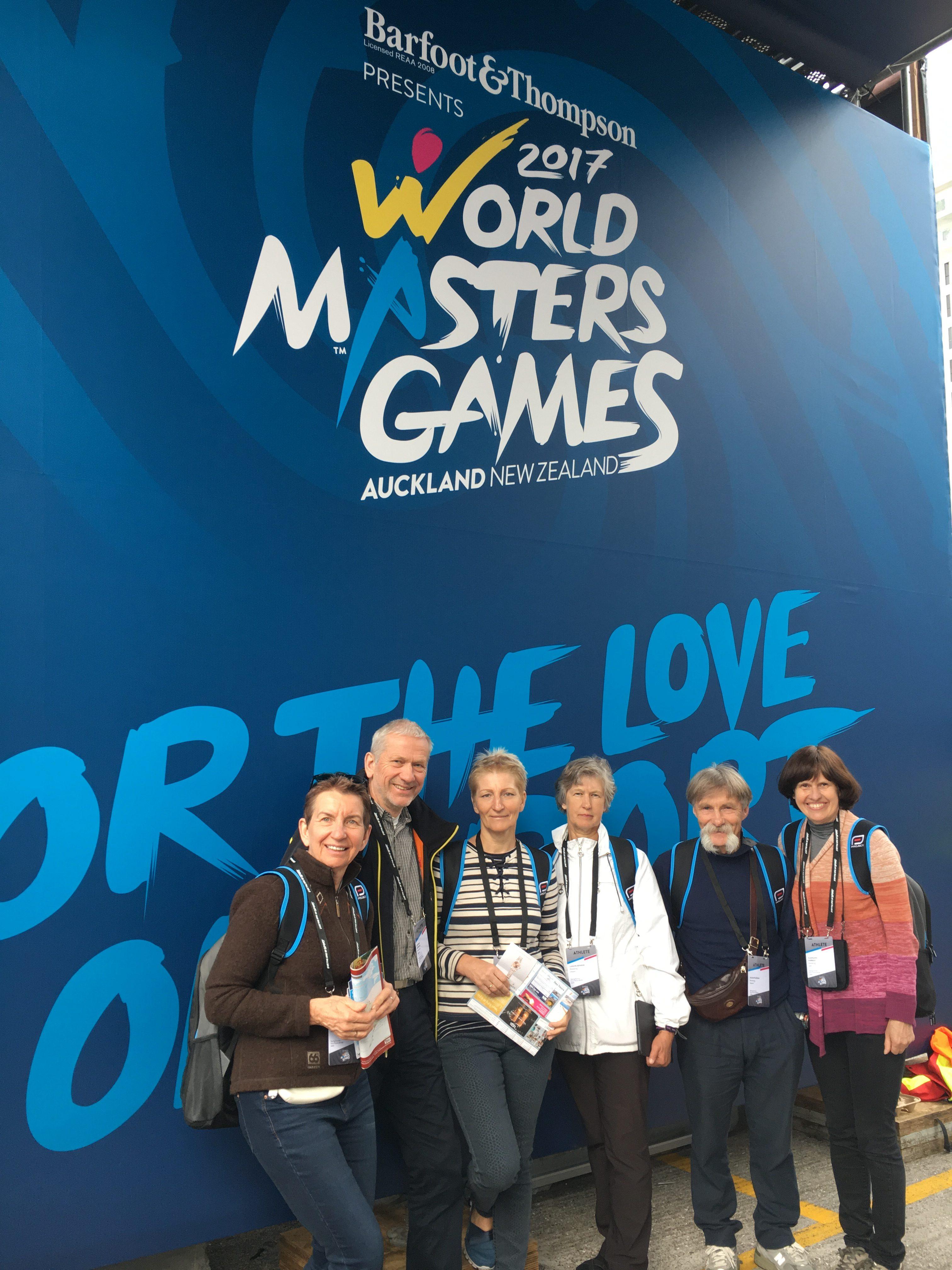Lietuvos delegacija pasaulio veteranų čempionate Naujojoje Zelandijoje