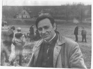 J. A. Starkauskas orientavimosi sporto varžybose, apytiksliai 1970-ti metai