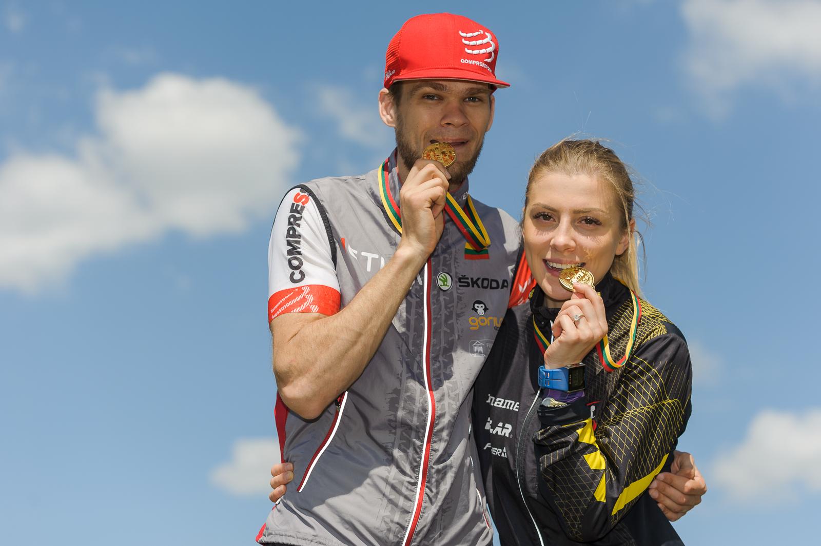 Vilius Aleliūnas su Vesta Ambrazaite - aukso nugalėtojai sprinto distancijose