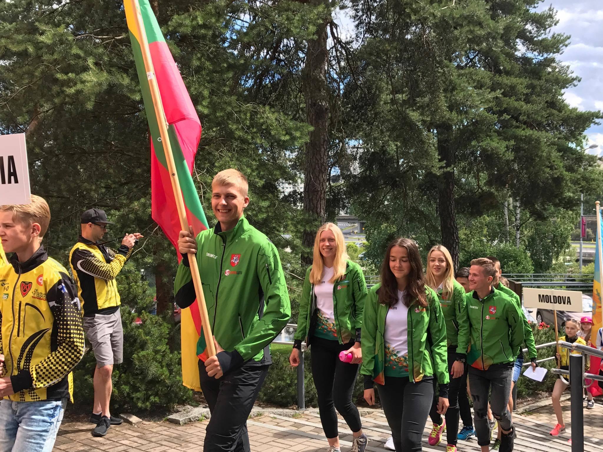 Lietuvos delegacija čempionato atidarymo ceremonijoje