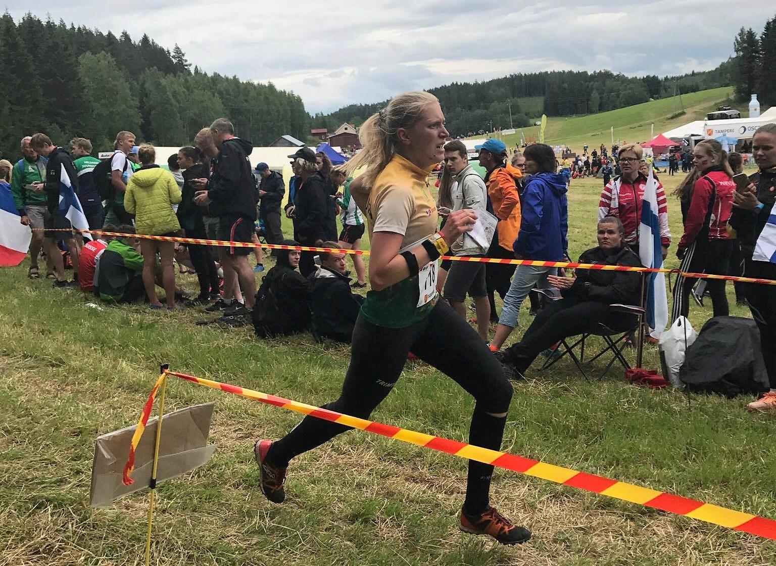 K. Rutkauskaitė bėga į finišą