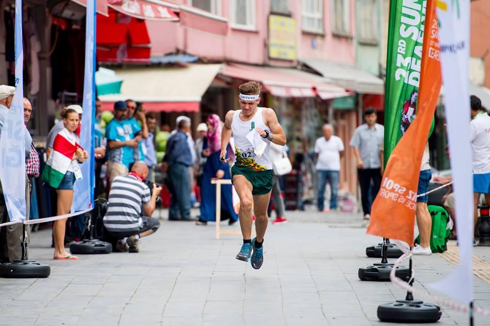 M. Volungevičius Samsune vykstančiose Kurčiųjų olimpinėse žaidynėse. Sprintas
